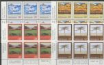 SG 1312-5 Paintings by Rita Angus set of 4 plate blocks of 6 (NF1/63)